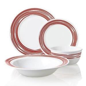 Corelle Dinnerware Set Red  sc 1 st  eBay & Corelle Dinnerware Set | eBay
