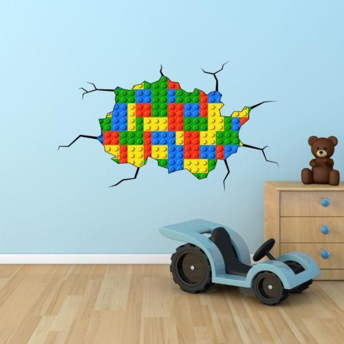 Incroyable Lego Brick Wall Stickers