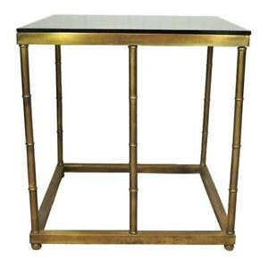 Charming Brass Glass End Tables