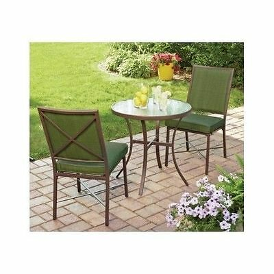 Another Great Options For Small Patios Is The 2 Chair Bistro Set. This Set  Will Include A Small Round Table As Well As Two Chairs.