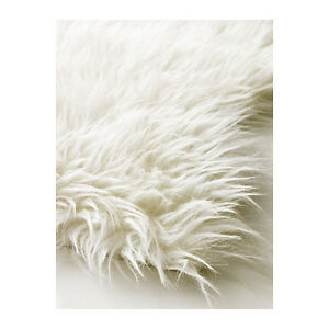 IKEA Faux White Sheepskin Rug New Super Warm Soft U0026 Cozy