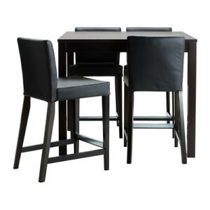 Selling Ikea Bar Table And 4 Bar Stools Bjursta/henriksdal