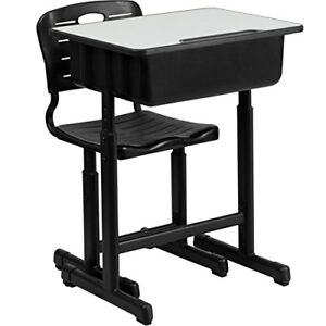 High School Student Desk And Chair Set Adjustable Child Study Furniture  Storage