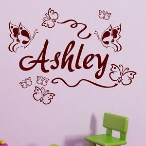 Attrayant Kids Name Wall Decals