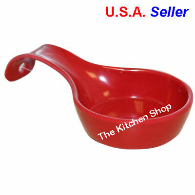 Spoon Rest Red Melamine Utensil Holder Kitchen Tools Decor New (FREE  SHIPPING)