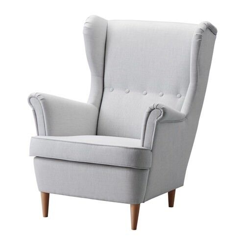 Charmant Ikea Standrom Light Grey Wing Back Chair   Colour No Longer In Store