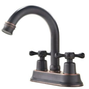 Rustic Bathroom Sink Faucet Long Reach Spout Pop Up Camper Oil Rubbed  Bronze RV
