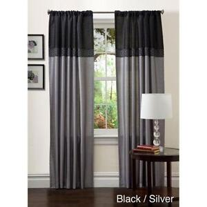 Attractive Black Gray Curtains