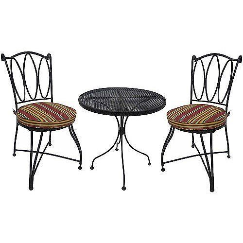 Outdoor Patio Furniture 3 Piece Bistro Set Table U0026 2 Chairs Patio Deck Pool  NEW