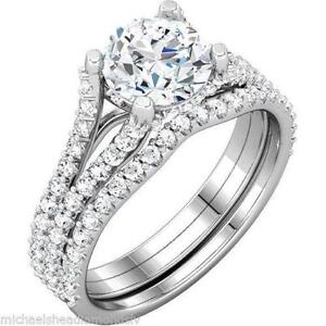 Beau White Gold Wedding Ring Sets