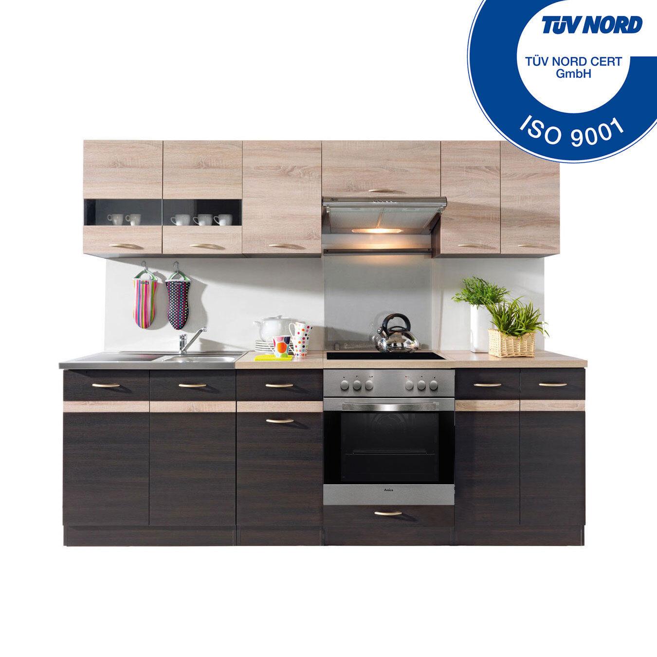 Küchenzeile Mit Elektrogeräten Spülbecken Einbauküche Küche E Geräten   AB  LAGER