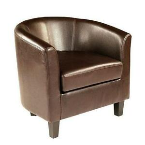 Nice Brown Leather Tub Chairs