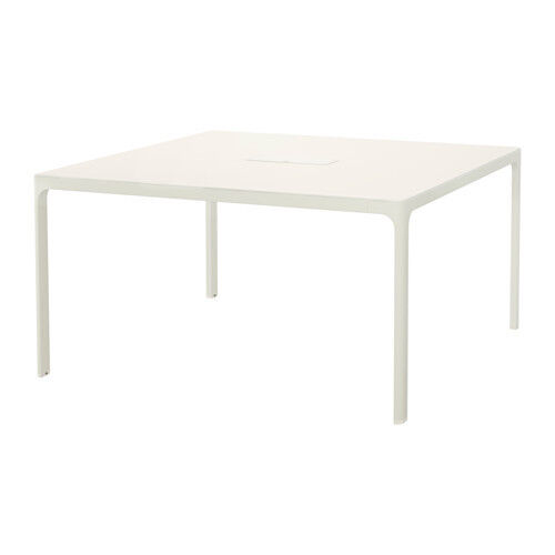 IKEA BEKANT OFFICE Or CRAFT TABLE WHITE   Sturdy 140cm Square Table