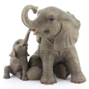Perfect Elephant Mother Baby Figurine Statue Playtime Ornament Leonardo Africa