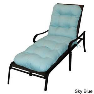 Blue Chaise Lounge Cushions