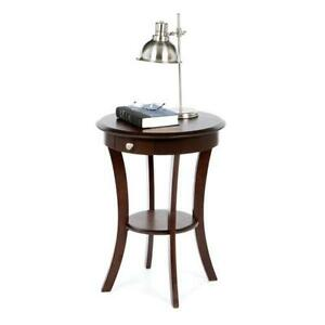 Round Wood End Tables