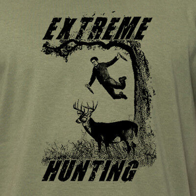 EXTREME HUNTING funny outdoors nature deer hunting season gift daredevil (Funny Deer)