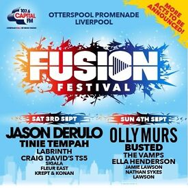 Fusion Festival Liverpool - Gold Circle - 2x weekend passes (3rd and 4th September)