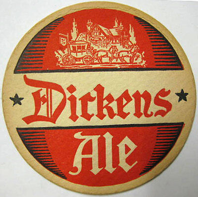 PAR-EX ALL MALT, DICKENS ALE 1930s Beer COASTER, Mat, Syracuse Brewery, NEW YORK