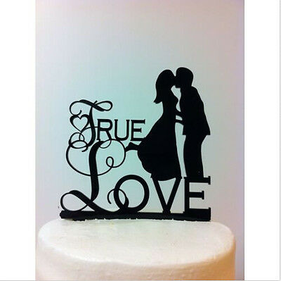 True Love Bridal Shower Wedding Engagement Anniversary Cake Topper Favor Sign ()