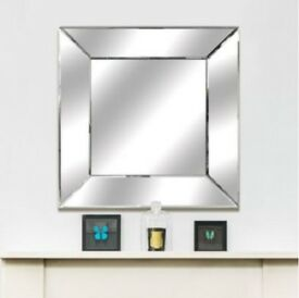 BEAUTIFUL CONTEMPORARY SQUARE MIRROR - BRAND NEW - ONLY £10 !!!