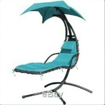 Outdoor Garden Helicopter Hanging Swing Hammock Lounger Bed Egg Chair Sun Shade