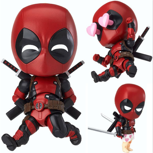 Nendoroid 662 Marvel Cute Deadpool Orechan Edition Action Figure Toy Doll Model