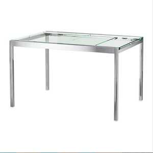 IKEA Glass Dining Extendable Table GLIVARP-SOLD
