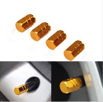 Штоков клапанов 4 PCS/SET gold Aluminium
