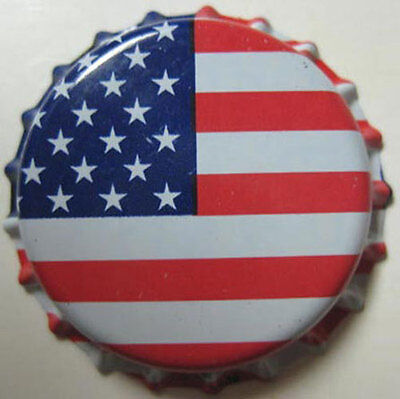 AMERICAN FLAG plastic-lined Beer CROWN, bottle cap, DeGroen, Baltimore, MARYLAND