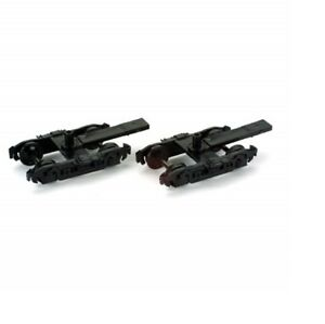 Athearn HO 4 Wheel Passenger Trucks Black with 36