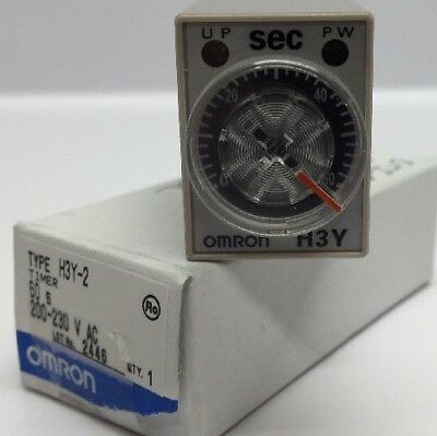 Nos Omron Timer H3y-2 200230 Vac 60 Second Time Delay Relay Omron New H3y-2-60s