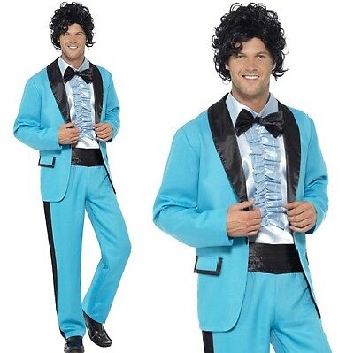 Mens 1980s Prom King Fancy Dress Costume Wedding Singer Outfit New by Smiffys](80s Prom Costume Men)