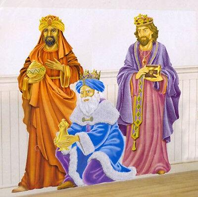 WISE MEN Scene Setter Christmas party wall decoration kit holy manger nativity - Nativity Scene Setters