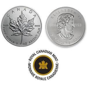 NEW $5 DOLLAR CANADIAN 1OZ SILVER COIN - 128025611 - 2015