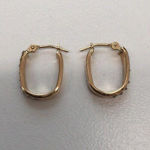 14 Karat Yellow Gold Earrings .95 Grams