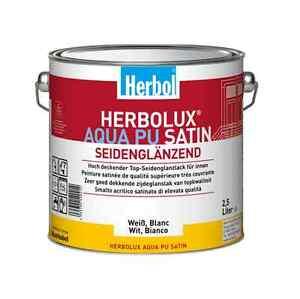 Herbol Herbolux Aqua PU Satin weiß 2,5L- ausgezeichnete Kratz- & Stoßfestiigkeit