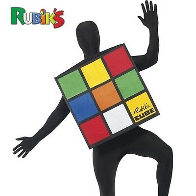 Adult 80s 1980s Rubiks Cube Rubik's Fancy Dress Costume 38-44