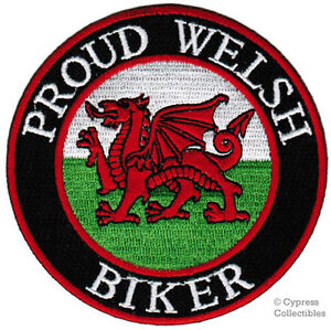 PROUD-WELSH-BIKER-embroidered-PATCH-WALES-FLAG-new-UK-iron-on-CYMRU-BADGE