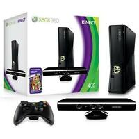 Xbox 360 w/Kinect, 4 Controllers, 34 games
