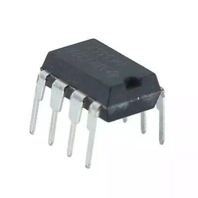 4 Pcs 4.5v-16v Ne555p Single Timer Chip Ic 555 8 Pin Dip Sockets Black