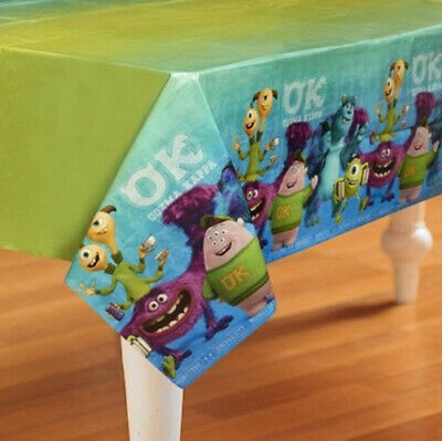 MONSTERS UNIVERSITY INC plastic TABLECLOTH birthday party 1 table cover Mike - Amscan Tablecloths