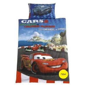 Disney-Pixar-Cars-2-lenzuola-135x200-McMissile-McQueen-con-3D-effetto-OCCHIALI