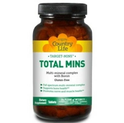 Total Mins Multi Mineral Country Life 120 Tabs ()