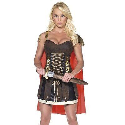 Damen Römischer Gladiator Mädchen Kostüm Verkleidung Römische Soldat von Smiffys