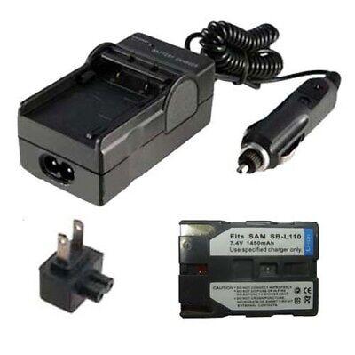 SB-L110 Battery&Charger for SAMSUNG SCD23 SCD70 SCD103 SCD105 Digital Camcorder