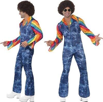 60er Jahre 70er Jahre Groovier Tänzer Kostüm Disco Herren Outfit Neu von (Disco Tänzer Kostüm)