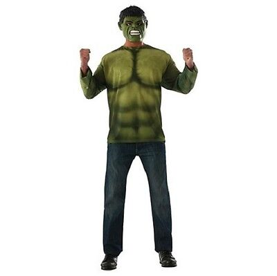 HULK ADULT COSTUME Large (42-44) T-Shirt & Mask Men's Avengers Rubie's Easy - Easy Avengers Costumes
