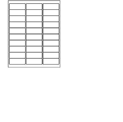 10 Sheets - 300 Blank Return Address Labels - 2 58 X 1 - Free Shipping