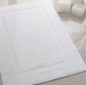 12 White Cotton Hotel Bath Mats Large 22x34 Premium Ebay